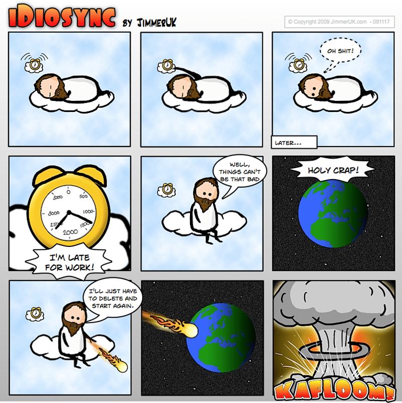 Jesus overslept
