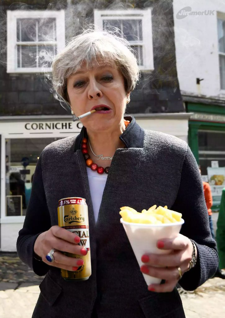 Theresa taking some time off in Cornwall